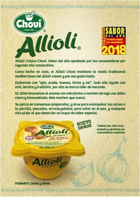Allioli Chovi nuevo envase