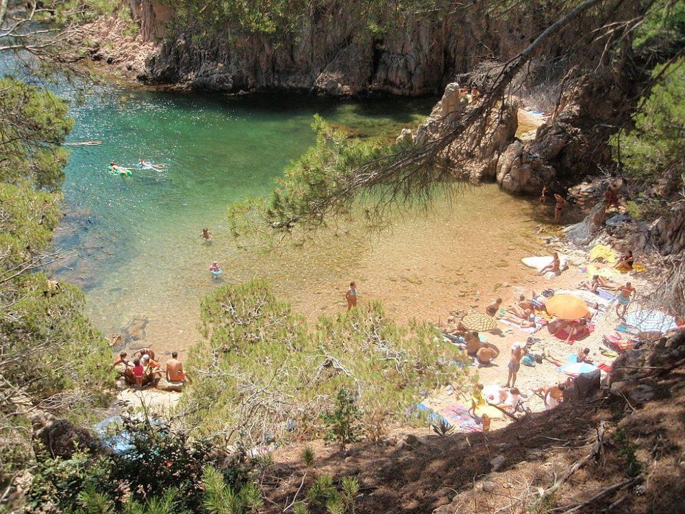 Cala d'Aigua Xelida, Tamariu, Palafrugell, Costa Brava, Catalunya