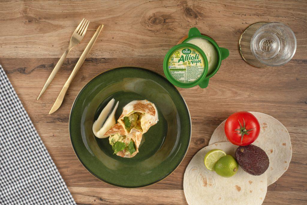 Wrap de guacamole y alioli